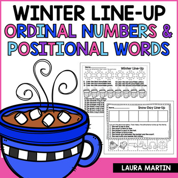 Ordinal Numbers and Positional Words FREEBIE