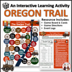 Oregon Trail Game Board Fun Activity for Students