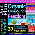 Organic Chemistry - Organized & Engaging Worksheets for Hi
