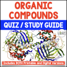 Organic Compounds Quiz