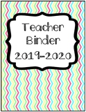 Organization Tool: Chevron Teacher Binder with Sub Folder