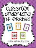 Organizational Binders and Labels for Elementary Teachers