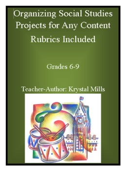 Organizing Social Studies Projects For Any Content (W/Rubrics) Gr.6-9