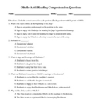 Othello: Act 1 Comprehension Quiz