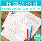Our Solar System - Standardized Reading Test Practice