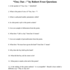 """Out, Out--"" by Robert Frost Questions"