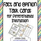 Fact and Opinion Posters, Task Cards, and Scoot