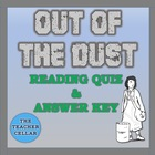 Out of the Dust Reading Comprehension Questions/Quiz