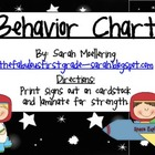 Outer Space Themed Behavior Chart (clip-up, clip-down)