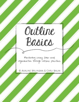 Beginning of the Year Essay Outline Templates (Instruction & Practice)