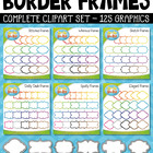 Outlined Borders Frames — Includes 6 Graphics!