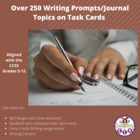 Over 250 Writing Prompts/Journal Topics on Task Cards (Ali