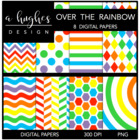 Over the Rainbow {12x12 Digital Papers for Commercial Use}