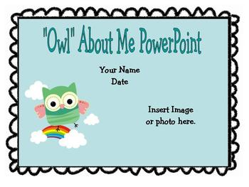 """Owl"" About Me Common Core Writing, Listening and Speaking"