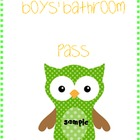 Owl Bathroom Passes