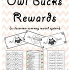 Owl Bucks Rewards {a classroom economy reward system}