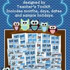 Owl Calendar Headings