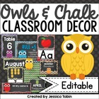 Owl, Chevron, and Chalkboard Classroom Decor Set