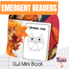 Owl Emergent Reader FREEBIE