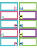 Owl Label Name Tags