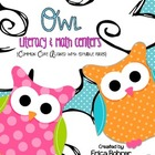 Owl Literacy and Math Centers {Common Core Aligned and Editable}