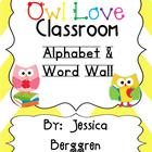 Owl Love Classroom Alphabet & Word Wall