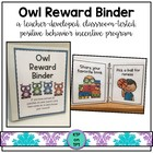 Owl Reward Binder (Positive Behavior Incentive Program)