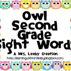 Owl Second Grade Sight Words