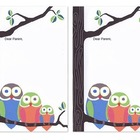 Owl Stationary- Parent Note