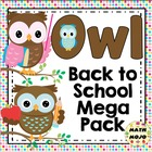 Owl Theme Back to School Mega Pack
