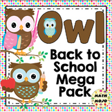 Owl Theme Classroom Back to School Mega Pack
