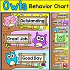 Owl Theme Behavior Clip Chart - Editable - Back to School Decor