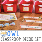 Owl Theme Classroom Decor Set