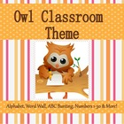 Owl Theme Classroom with Months of Year Calendar Headers