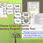Owl Theme Grade Two CCSS Complete Vocabulary Program