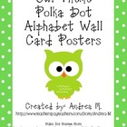 Owl Theme Polka Dot Alphabet Wall Card Posters