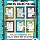 Owl Theme Writing Choice Board Pack (Aqua, Blue, Green, Brown)