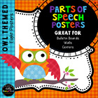 Owl Themed 8 Parts of Speech Anchor Charts