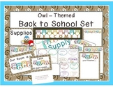 Owl Themed Back to School Set