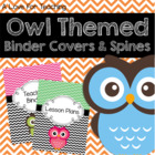 Owl Themed Binder Covers and Spines