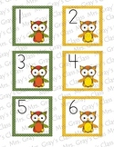 Owl Themed Calendar Cards - September Fall