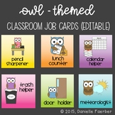 Owl-Themed Class Job Cards