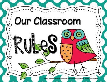 Owl-Themed Classroom Rules Posters II