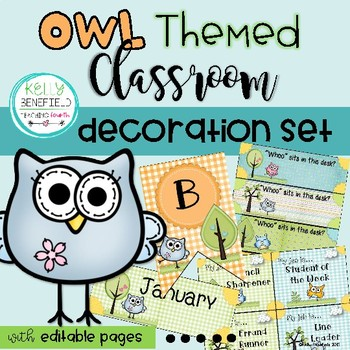 Owl Themed Classroom Set