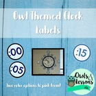 Owl Themed Clock Labels