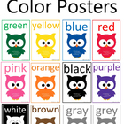 Owl Themed Color Posters