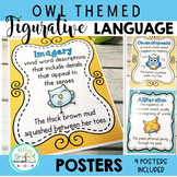 Figurative Language Posters: Owl Themed