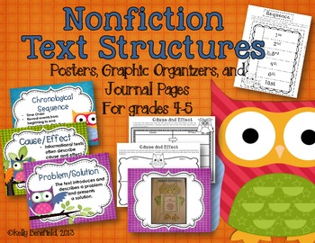 Owl Themed Nonfiction Text Structures Packet