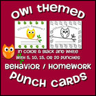 Owl Themed Punch Cards