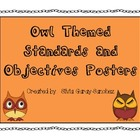 Owl Themed Standards and Objectives Posters